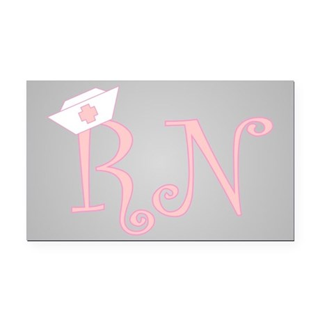 RN Rectangle Car Magnet