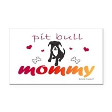pit bull Rectangle Car Magnet