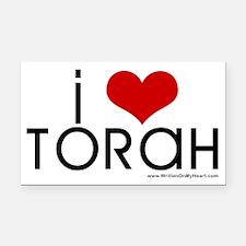 """I Love Torah"" Rectangle Car Magnet"