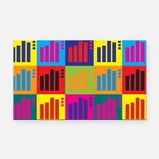Statistics Pop Art Rectangle Car Magnet