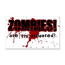 Zombie Ready Rectangle Car Magnet