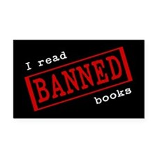 Banned Books Rectangle Car Magnet