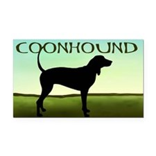 Coonhound In A Field Rectangle Car Magnet