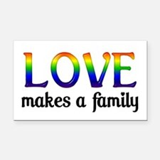 Love Makes A Family Rectangle Car Magnet