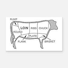 Beef Diagram Rectangle Car Magnet