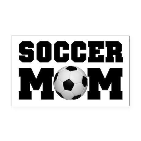 Soccer Mom Rectangle Car Magnet