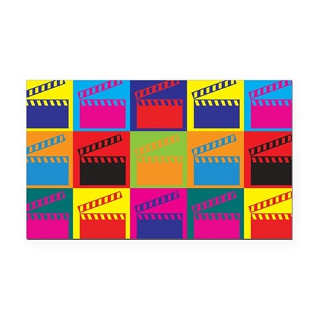 Movies Pop Art Rectangle Car Magnet