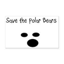 Save the polar bears Rectangle Car Magnet