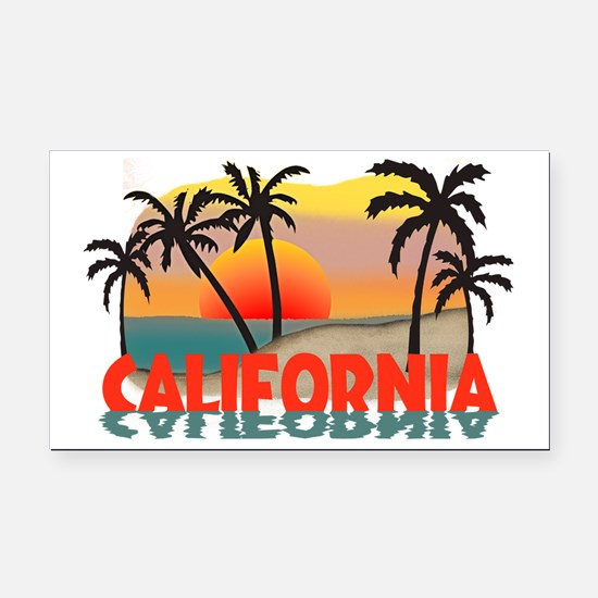 California Sunset Souvenir Rectangle Car Magnet