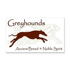 Celtic/Modern Greyhound Rectangle Car Magnet