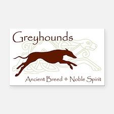 Celtic/Modern Greyhound Rectangle Car Magnet