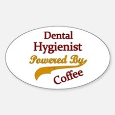 Cute Dental hygienist Sticker (Oval)