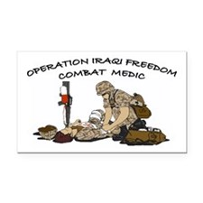 Combat Medic OIF Support Rectangle Car Magnet