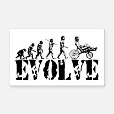 Recumbent Bicycle Rectangle Car Magnet