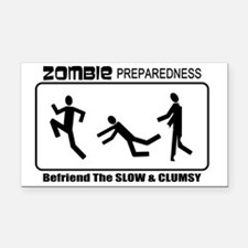 Zombie Prepared SLOW Rectangle Car Magnet
