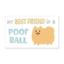 Pomeranian Poof Ball Rectangle Car Magnet