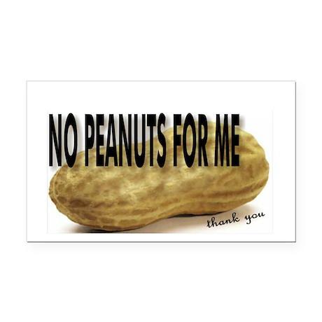 No Peanuts For Me Rectangle Car Magnet