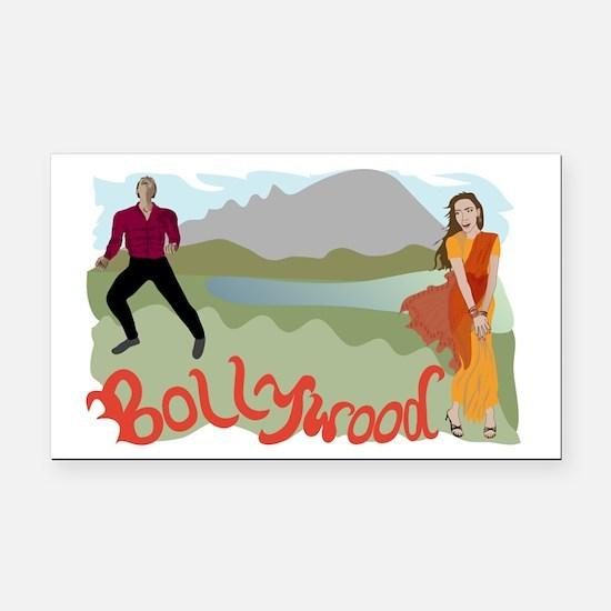 Singing Bollywood Rectangle Car Magnet