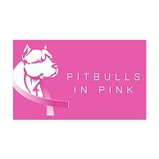 Cute Pitbull breast cancer Rectangle Car Magnet