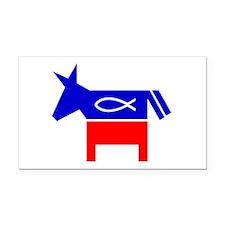 Christian Fish Democratic Donkey Rectangle Car Mag