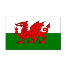 Wales Rectangle Car Magnet