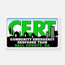 CERT 3x5 Rectangle Car Magnet for Hall County, GA