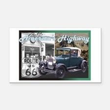ROUTE 66 CLASSIC Rectangle Car Magnet