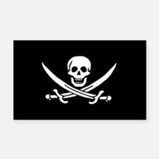 Calico Jack Jolly Roger Rectangle Car Magnet
