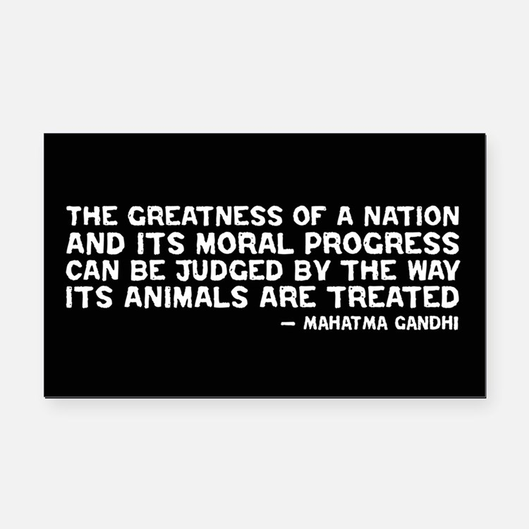 Quote - Greatness - Gandhi Rectangle Car Magnet