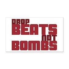 Drop Beats Not Bombs Rectangle Car Magnet