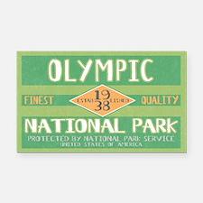 Olympic National Park (Retro) Rectangle Car Magnet