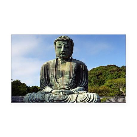 Great Buddha Rectangle Car Magnet