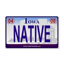 Iowa Plate - NATIVE Rectangle Car Magnet