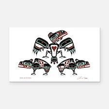 Raven & Her Bears Rectangle Car Magnet