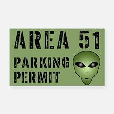 Area 51 Alien Parking Permit Rectangle Car Magnet
