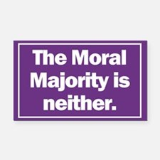 Rectangle Car Magnet. Moral Majority is neither