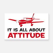Attitude A Rectangle Car Magnet