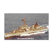 USS BASILONE Rectangle Car Magnet