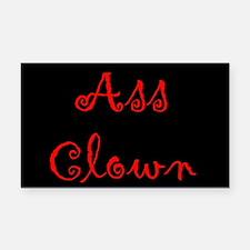 Ass Clown Rectangle Car Magnet