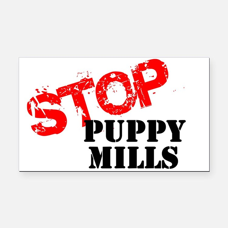 Cute Puppy mills Rectangle Car Magnet