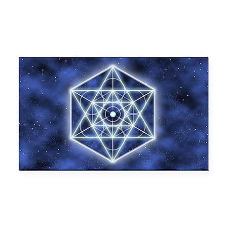 Celestial Blue Star Rectangle Car Magnet