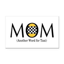 Taxi Mom Rectangle Car Magnet