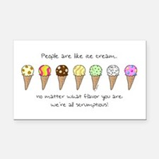 Ice Cream and People Rectangle Car Magnet