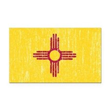 Vintage New Mexico Rectangle Car Magnet