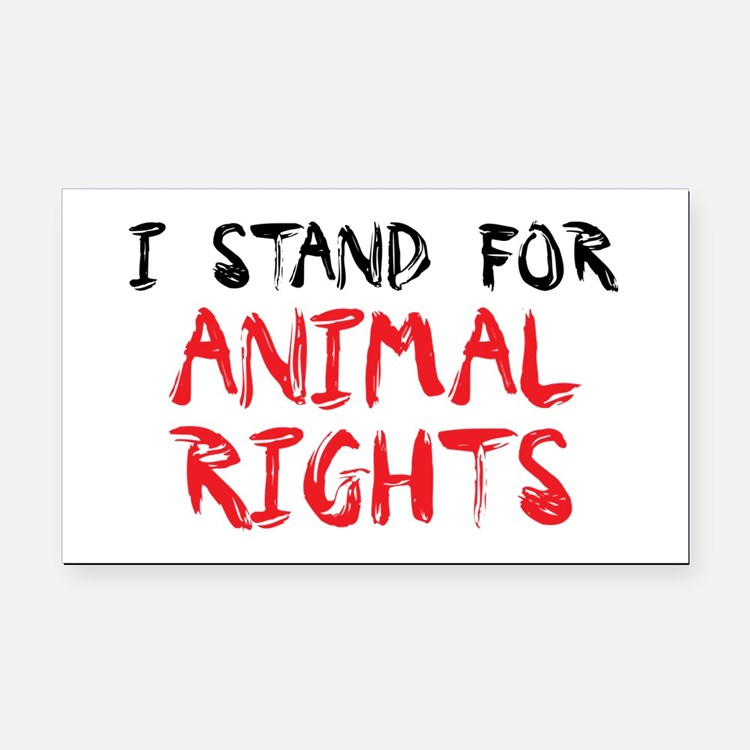 Animal rights Rectangle Car Magnet