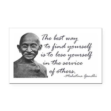 Gandhi Quote - Best way to fi Rectangle Car Magnet