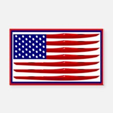 Kayak Flag Rectangle Car Magnet