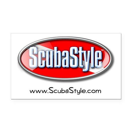 ScubaStyle Rectangle Car Magnet