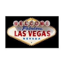 Las Vegas Rectangle Car Magnet