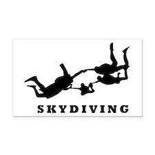 skydiving Rectangle Car Magnet